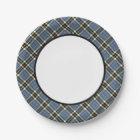 Clan Thompson Blue Dress Tartan Border Paper Plate