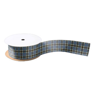 Clan Thompson Blue Dress Tartan Satin Ribbon