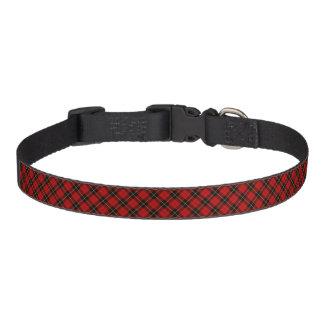 Clan Wallace Red and Black Scottish Tartan Pet Collar