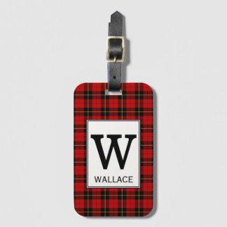 Clan Wallace Tartan Monogrammed Luggage Tag