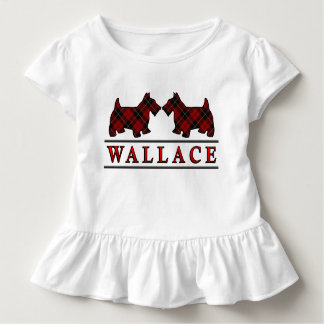 Clan Wallace Tartan Scottie Dogs Toddler T-Shirt