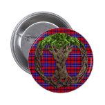 Clan Wishart Dress Tartan And Celtc Tree Of Life Pins