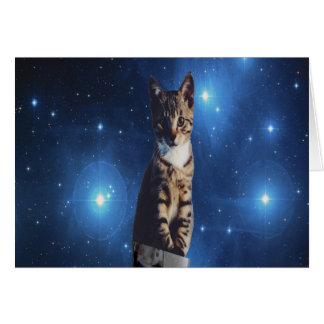 Clancy the Space Cat Card