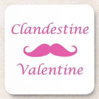 Clandestine Valentine 02P Beverage Coasters