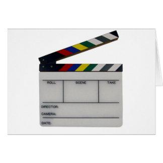 Clapboard movie filmmaker slate greeting card