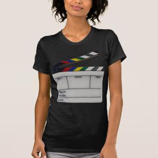 Clapboard movie filmmaker slate tee shirt