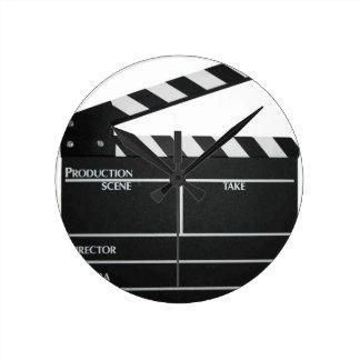 Clapboard movie slate clapper film clock