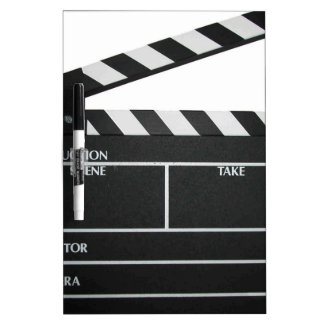 Clapboard movie slate clapper film dry erase board