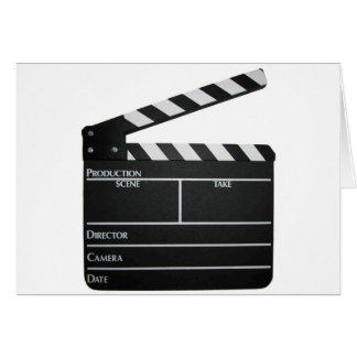 Clapboard movie slate clapper film greeting card