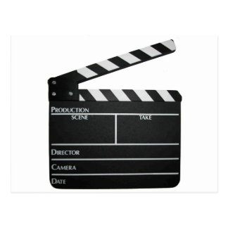 Clapboard movie slate clapper film postcard