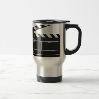Clapboard movie slate clapper film travel mug