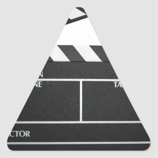 Clapboard movie slate clapper film triangle sticker