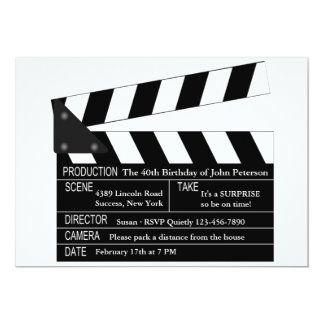 Clapper Board Invitation