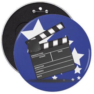 Clapperboard 6 Cm Round Badge