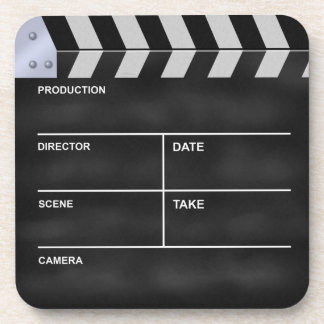 Clapperboard cinema beverage coasters
