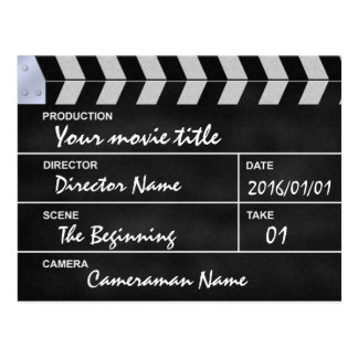 clapperboard cinema postcard