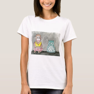 Clapping Monkey and Night Owl T-Shirt