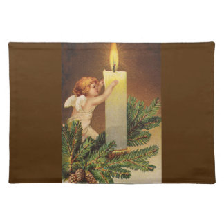 Clapsaddle: Angel on Fir Twig Placemat