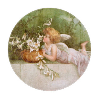 Clapsaddle: Angel with Lilies Cutting Board