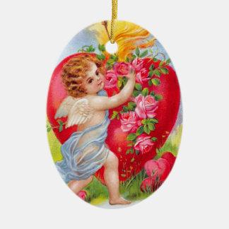 Clapsaddle: Cherub of Love Christmas Ornament