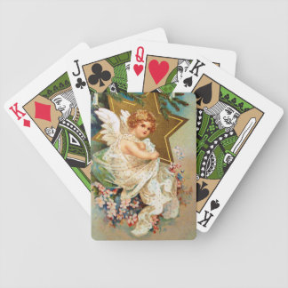 Clapsaddle: Christmas Angel Bicycle Playing Cards