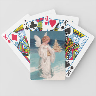 Clapsaddle: Christmas Angel with Bell Bicycle Playing Cards