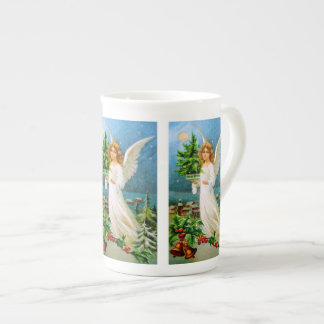 Clapsaddle: Christmas Angel with Fir Tree Tea Cup