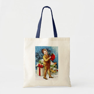 Clapsaddle: Christmas Shopping Canvas Bags