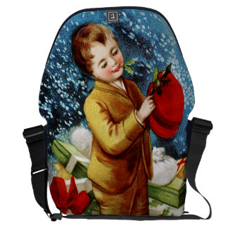 Clapsaddle Christmas Shopping Courier Bags