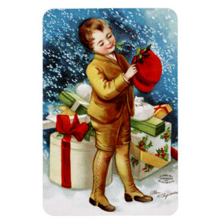 Clapsaddle Christmas Shopping Rectangle Magnet