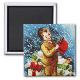 Clapsaddle Christmas Shopping Refrigerator Magnets