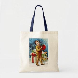 Clapsaddle: Christmas Shopping Budget Tote Bag