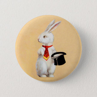Clapsaddle: Easter Bunny with Tie 6 Cm Round Badge