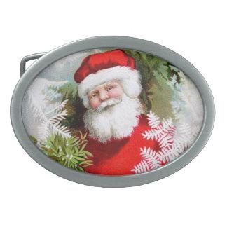 Clapsaddle: Santa Claus with Mistletoe Belt Buckle
