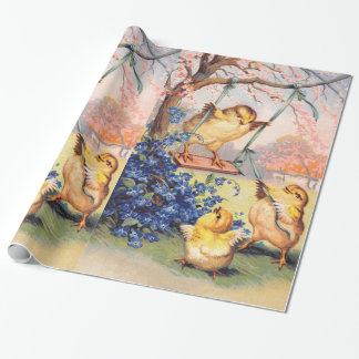 Clapsaddle: Swinging Biddy Wrapping Paper