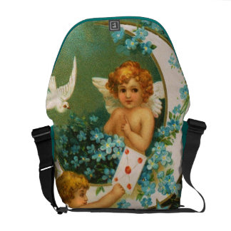 Clapsaddle: Two Cherubs on a Sickle Moon Commuter Bags