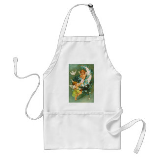Clapsaddle: Two Cherubs on a Sickle Moon Standard Apron