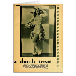 Clara Bow Dutch costume 1930 greeting card