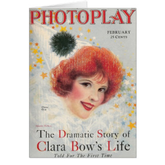 Clara Bow movie magazine Card