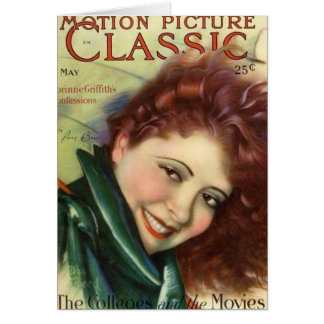Clara Bow Vintage 1929 Movie Magazine Card