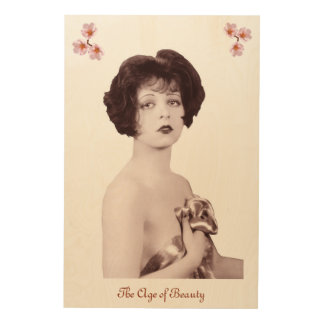 Clara Bow Wood Wall Decor