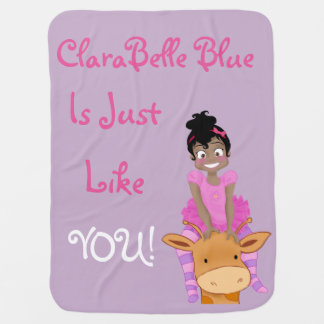 ClaraBelle Blue & Ford Baby Blanket (Lavender)