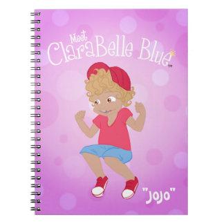 "ClaraBelle Blue Spiral Notebook - ""JoJo"""