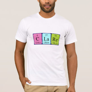Clare periodic table name shirt