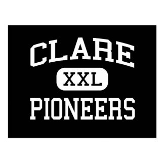 Clare - Pioneers - High School - Clare Michigan Postcard