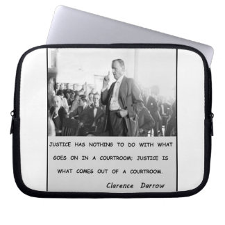 Clarence Darrow Justice Goes Out of Courtroom Laptop Sleeve