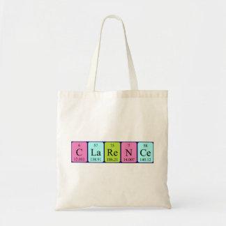 Clarence periodic table name tote bag