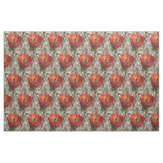 Claret Cup Hedgehog Cactus Bloom Fabric