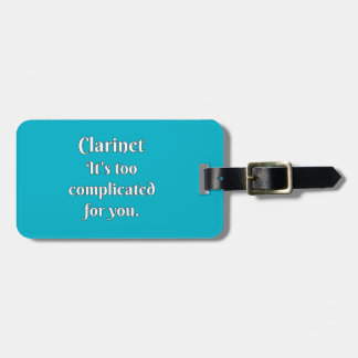 Clarinet Attitude! Luggage Tag