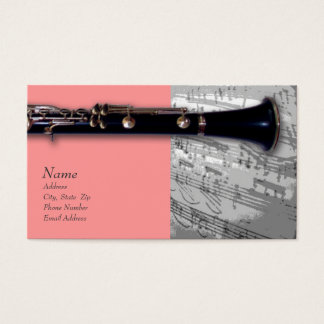 Clarinet Business Card for ClarinetCentral.com